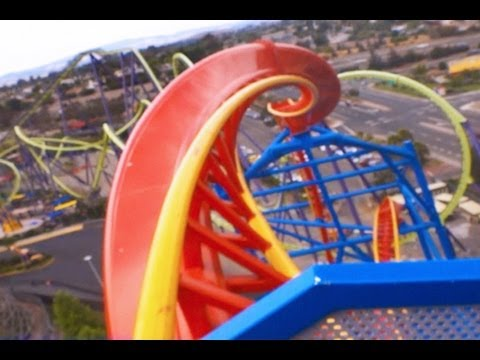 Superman Ultimate Flight! (Front HD POV) On-Ride Six Flags Discovery Kingdom