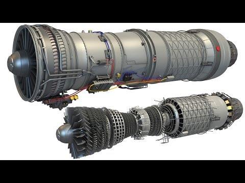 Military Supersonic Turbofan Engine 3D Model
