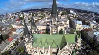 Львів аеровідеозйомка . Lviv (Bird's eye view) . Львов Аэровидеосъемка.
