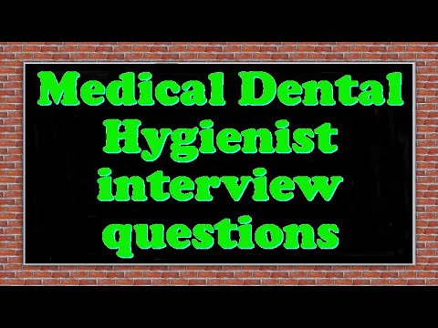 Medical Dental Hygienist interview questions - YouTube