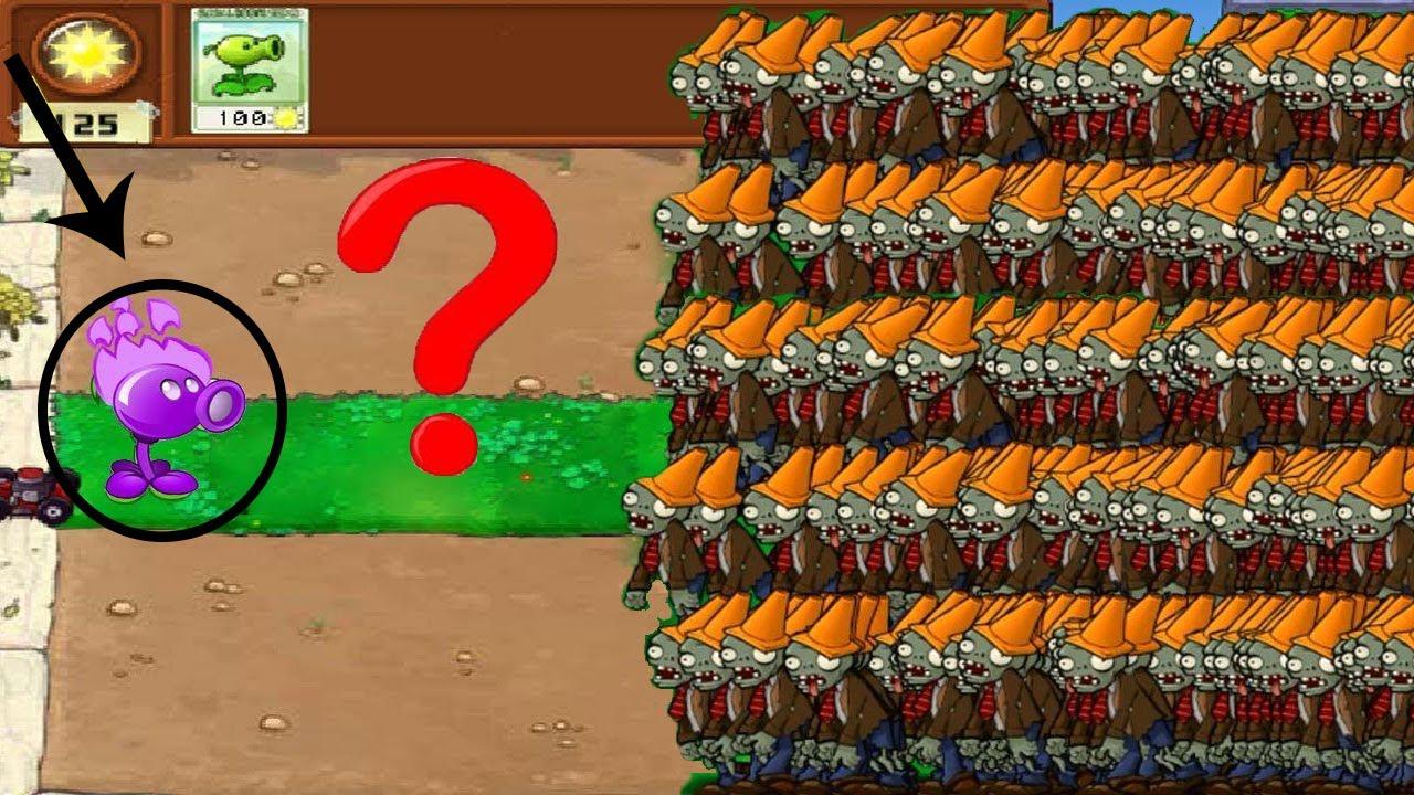 1 Cactus vs 9999 Balloon Zombie vs Dr. Zomboss - Plants vs Zombies