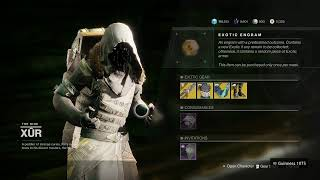 Where is xur Destiny 2, loot and location (6/12/20)