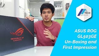 Asus GL503GE Hero Edition Unboxing and first Impression