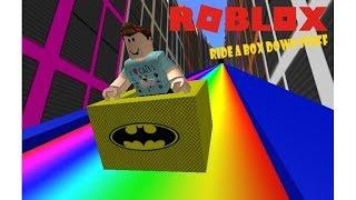 ride in a box in roblox !!!!!