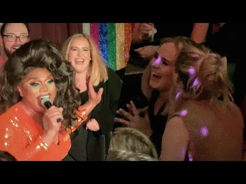 Adele And J Law Got Hammered At NYC Gay Bar: 'Hi, My Name's Adele!'