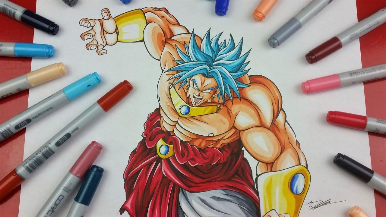 Drawing BROLY Legendary Super Saiyan BLUE