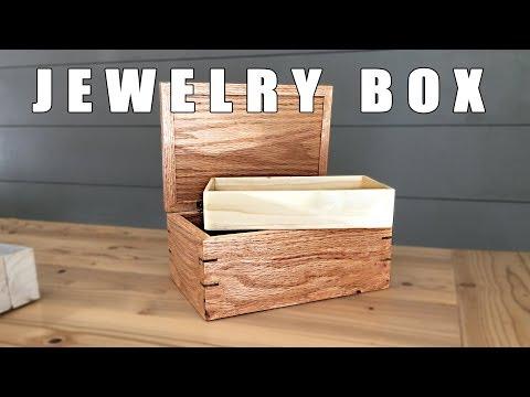 DIY Wood Jewelry Box - Spline Miter Joint Box