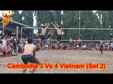 (Set 2) Cambodia 3 Vs 4 Vietnam Volleyball Match || ឥន្ទ្រីពិឃាតឌូក សុវណ្ណនាថ រាជ Vs វៀតណាម