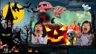 유령대소동! 유령을 불러볼까요? 유령풍선 유령소환 Ghost Adventure. ghost is coming! skeleton, spider, pumpkin, zombie