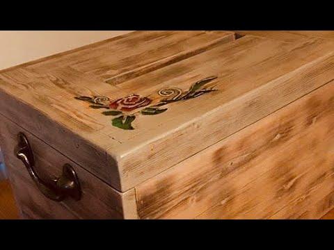 DIY vintage wedding box  BC03