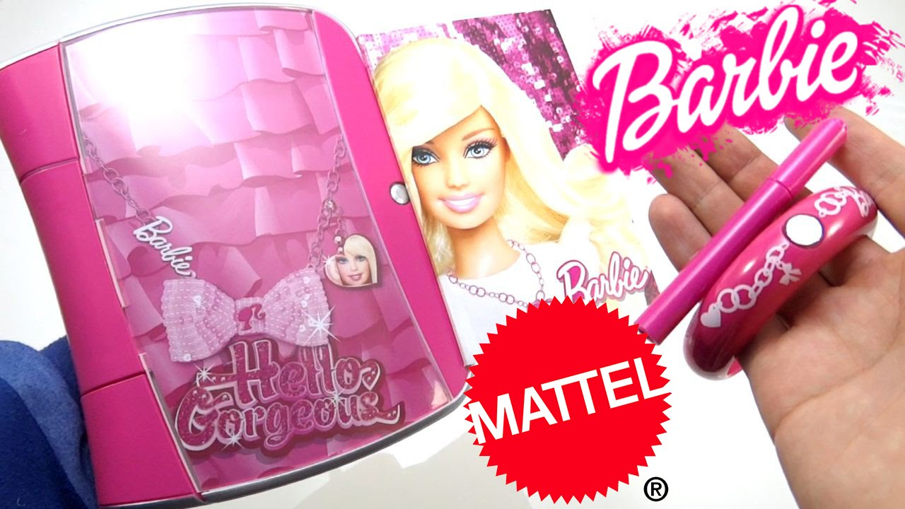 diario magico de barbie mattel juguetes para nias secreto musica y pulsera con joya youtube