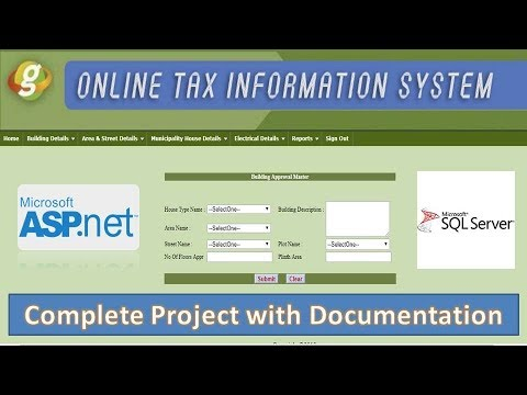 Online Tax Information System in ASP NET Project | CODER BABA