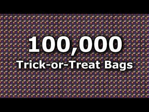 100,000 TRICK-OR-TREAT BAGS!! Opening Video Full Details Halloween 2017     Guild Wars 2