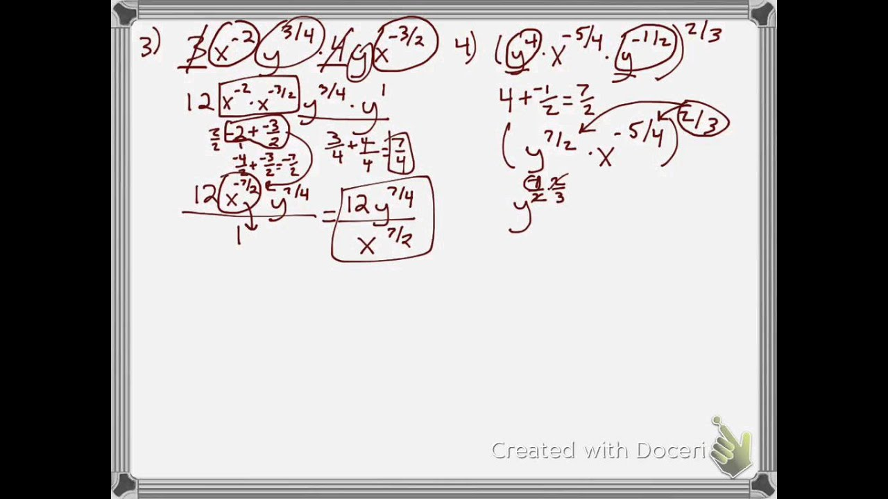 32 applying properties of rational exponents YouTube – Properties of Rational Exponents Worksheet