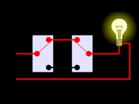 tow switch control one light at home very easy - YouTube