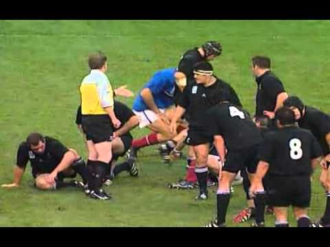 Rugby 1999. Semifinal. New Zealand v France