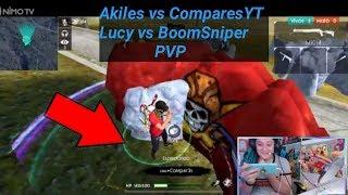 Akiles vs ComparesYT Se Enfrentan en PVP - FREE FIRE