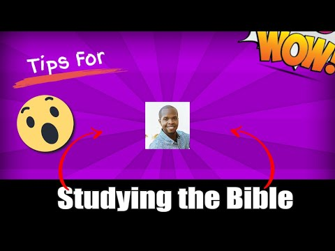 Tips For Studying The Bible With Efran Menny