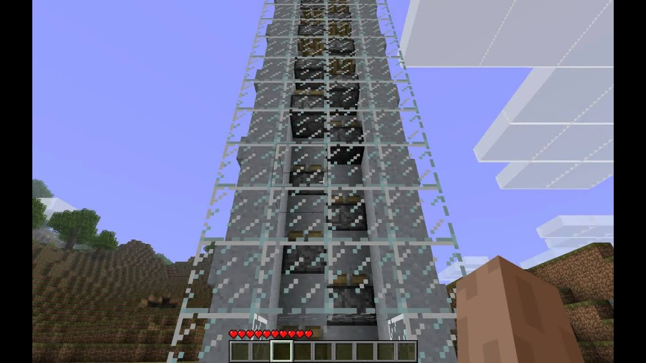 Minecraft Working Elevator