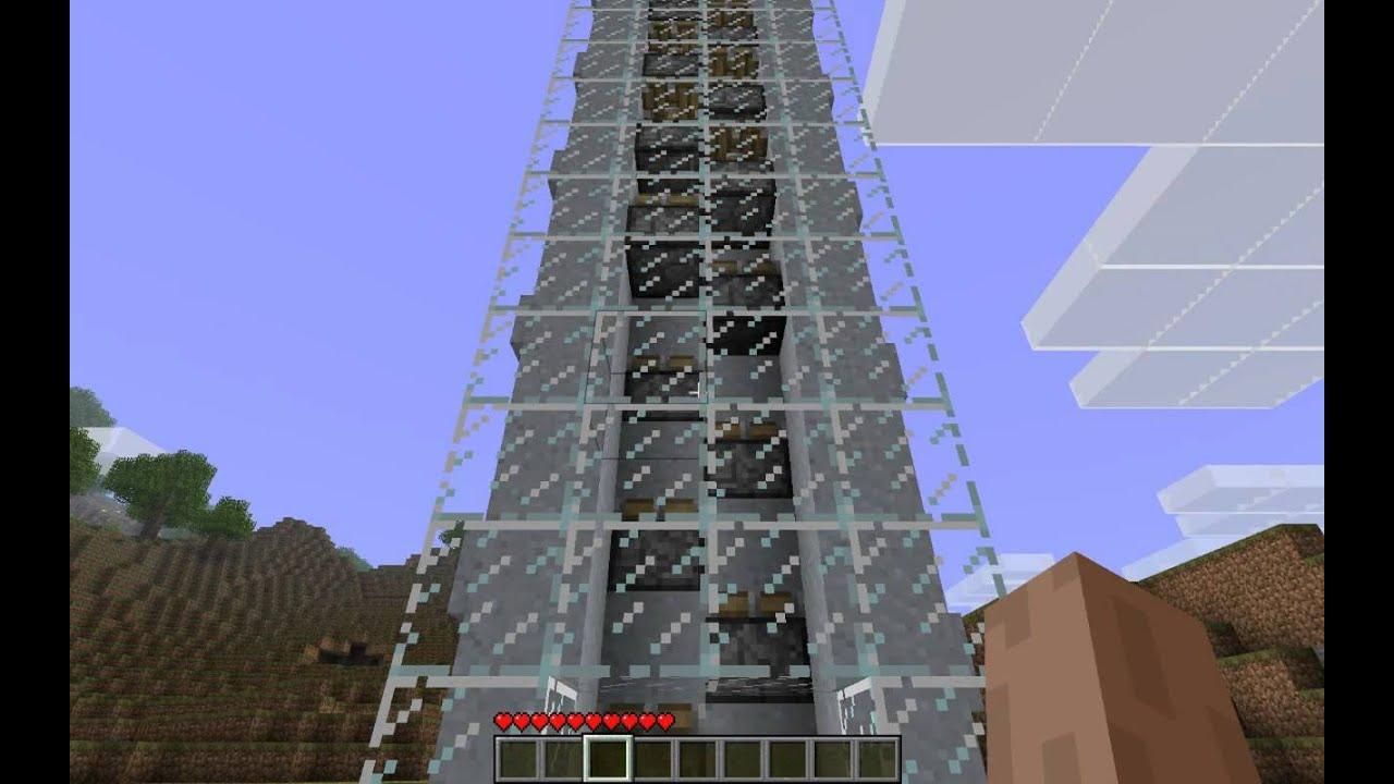 How to Make a Piston Elevator Minecraft