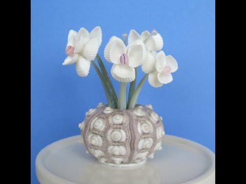 Цветы из ракушек своими руками пошагово фото 972