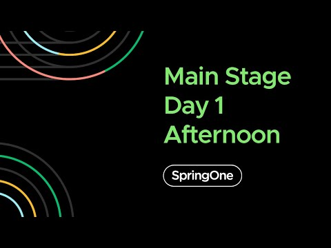 SpringOne 2020 - Day 1 Afternoon Full Keynote