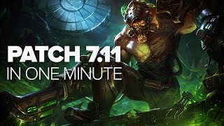 League of Legends Patch 7.11 in a Minute  - Rek'sai, Kindred, Malzahar & More thumbnail