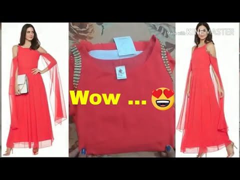 *online-dress*-flipkart-long-dress-review-&-try-on|party-wear-gown|buy-online