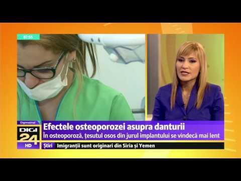 Efectele osteoporozei asupra danturii
