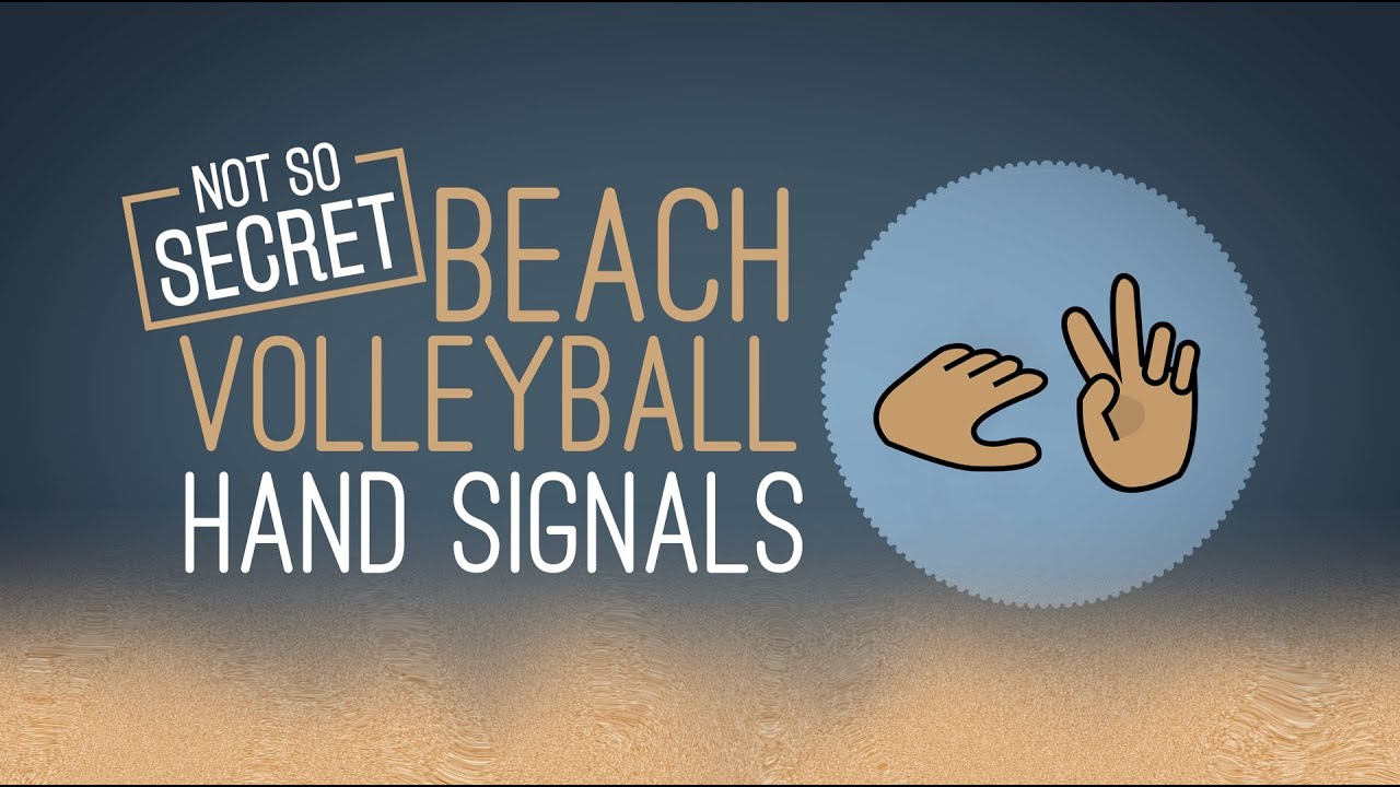 Beach Volleyball Hand Signals Youtube