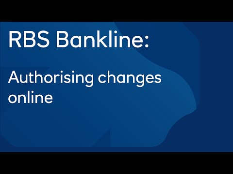 Authorising changes online: Royal Bank of Scotland Bankline