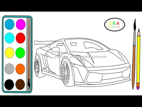 Cara Menggambar Mobil Balap Lamborghini Youtube