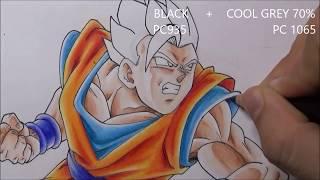 Como Dibujar a GOHAN Místico vs GOKU Ssj2 Part 1. Dragon Ball Super ep 90 How to Draw GOHAN VS GOKU
