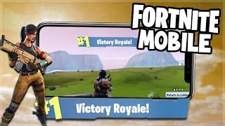 Fortnite MOBILE Gameplay - PRO Victory Royale Players! - iOS Fortnite (Fortnite Mobile Gameplay)