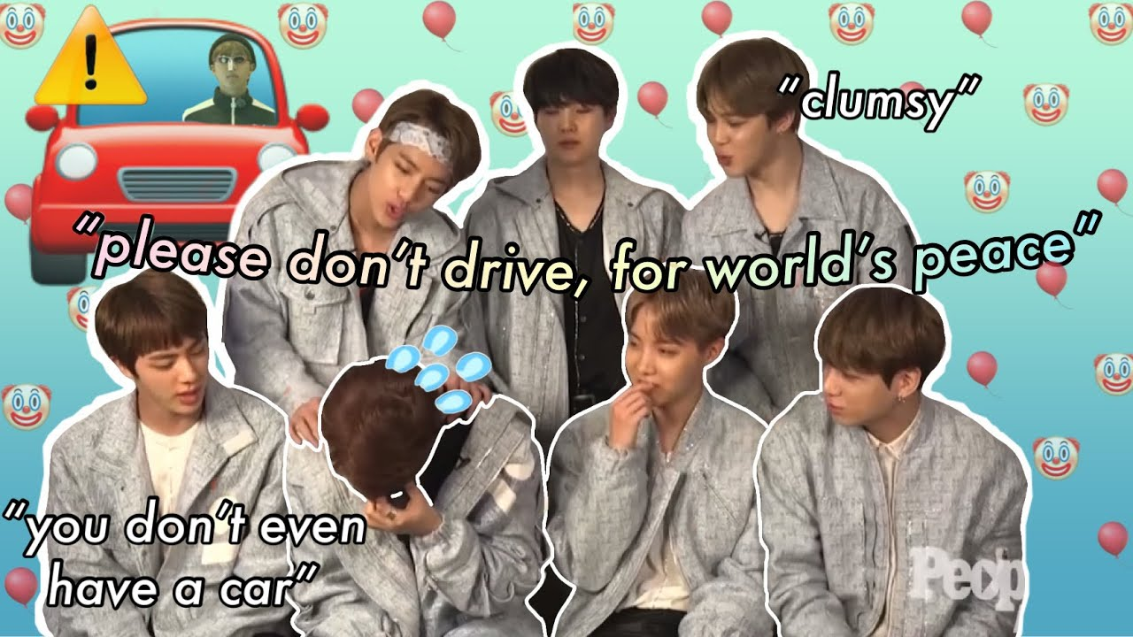 """BTS never letting Namjoon forget that he can't drive 