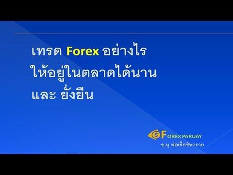 เทรด Forex อย่างไร ให้อยู่ในตลาดได้นาน และ ยั่งยืน