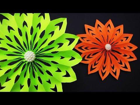 DIY 3D Paper Snowflakes Tutorial | Christmas Decor Ornaments. 2019