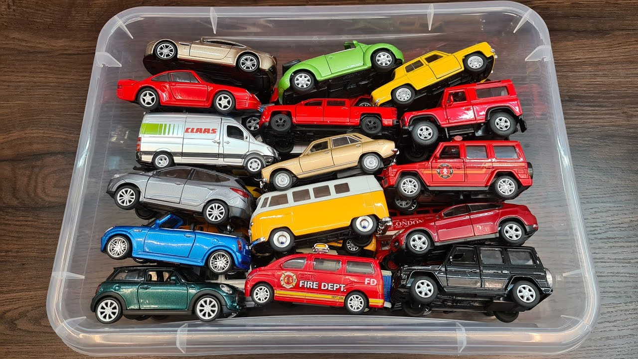 Box Full of Cars Welly and more differents Cars