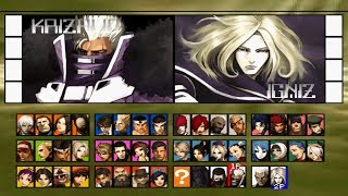 The King of Fighters 2001 All Characters [PS2]