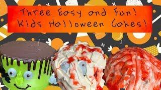 3 Einfache Buttercreme Halloween-Kinder-Kuchen | Easy Halloween-Kuchen