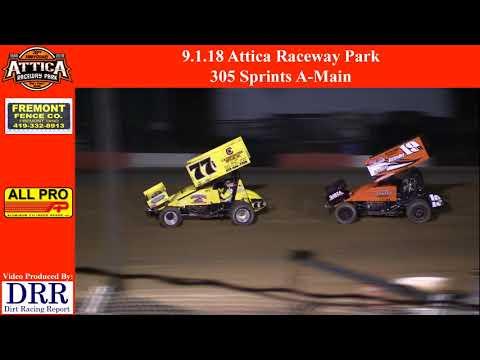 9.1.18 Attica Raceway Park 305 Sprints A-Main