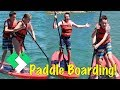 First Time Paddle Boarding!   Clintus.tv