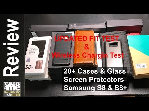 2 of the 20 Cases for the Samsung S8 & S8 Plus failed the wireless charging or fit test