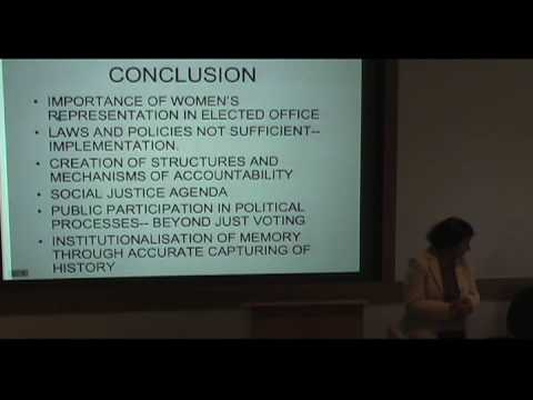 International Studies Symposium Series - Rashida Manjoo Part 7
