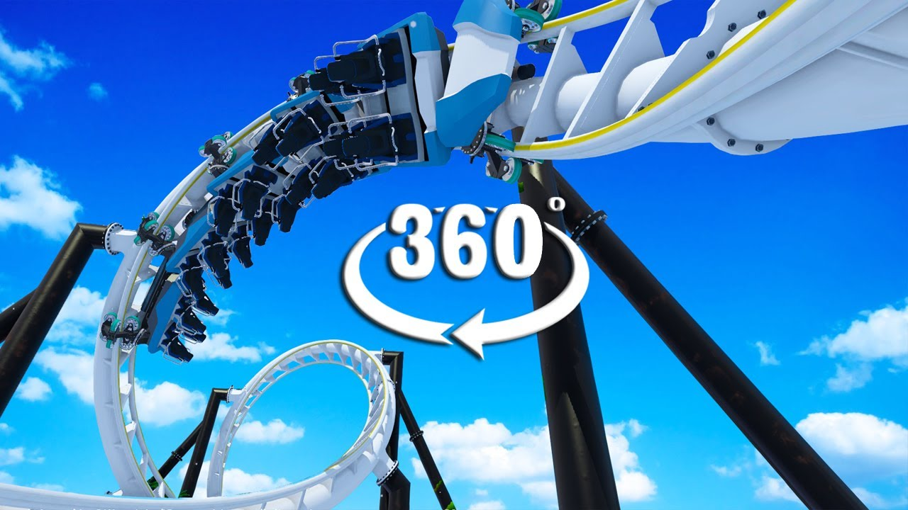 VR 360 Video Winter Forrest Roller Coaster Ride for Virtual Reality Headsets - Full Movie
