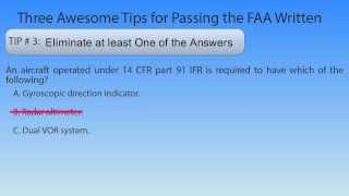 3 Tips to Help You Pass the Aviation Knowledge Test