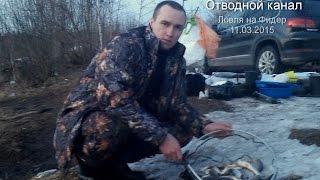 Рыбалка в Тверской области. Конаково, отводной канал. Видеоотчет от 11.03.15
