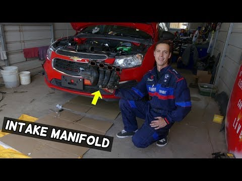 CHEVROLET CRUZE INTAKE MANIFOLD REMOVAL REPLACEMENT  CHEVY SONIC 1.8