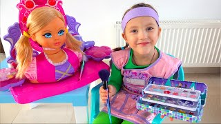 Ksysha Plays with dolls and MakeUp Toys for Kids and Dress Up