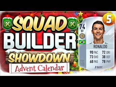 FIFA 18 SQUAD BUILDER SHOWDOWN!!! THE SILVER RONALDO!!! Advent Calendar Day 5 Vs Jack54HD